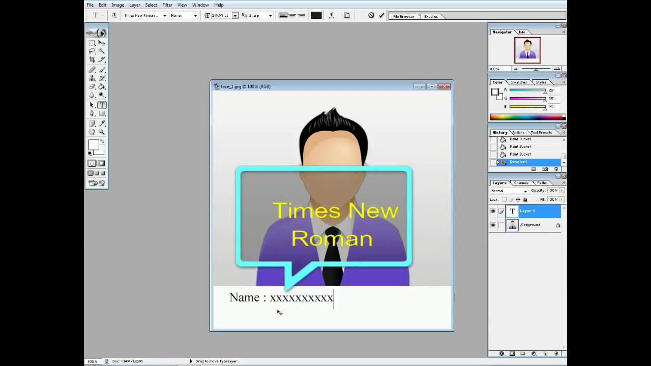How to photoshop date of birth on passport