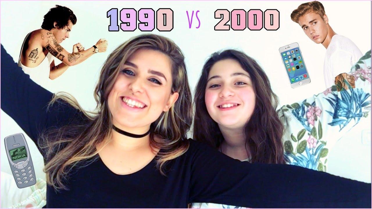 1990 vs 2000 youtube