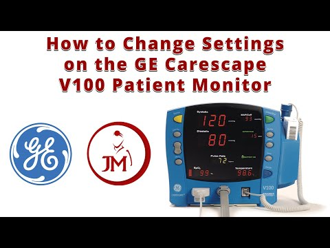How To Change Settings On The GE Carescape V100 Patient Monitor