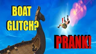 Fortnite | BOAT GLITCH PRANK