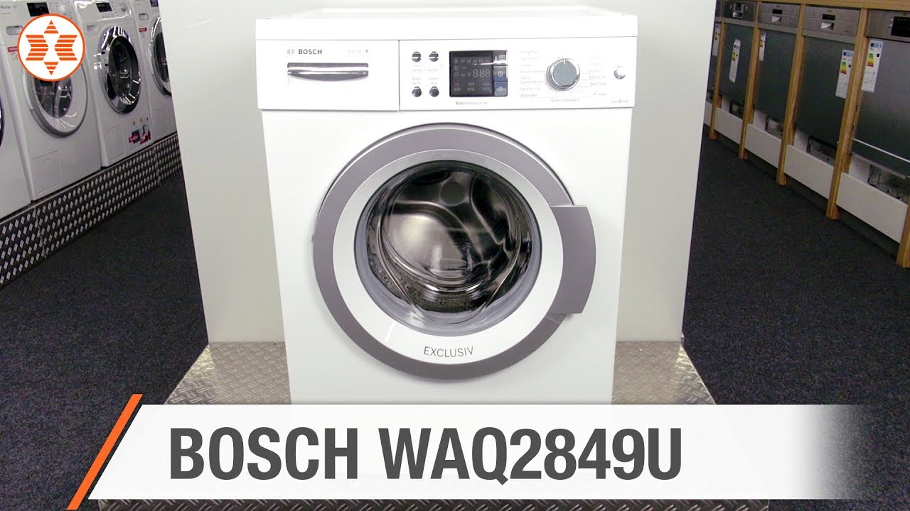 bosch waschmaschine waq2849u jubil ums angebot der woche youtube. Black Bedroom Furniture Sets. Home Design Ideas