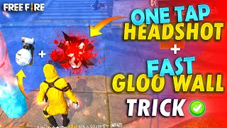 ONE TAP + FAST SIT-UP GLOO WALL TRICK || Total Explain || FireEyes Gaming || Garena Free Fire