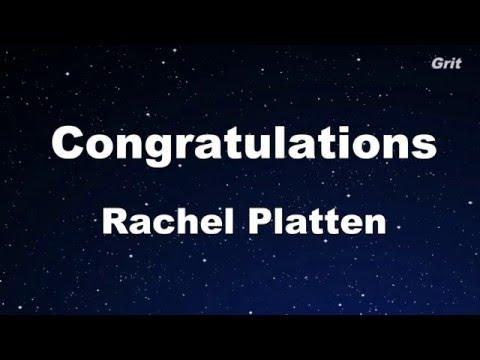 Congratulations - Rachel Platten Karaoke 【With Guide Melody】 Instrumental
