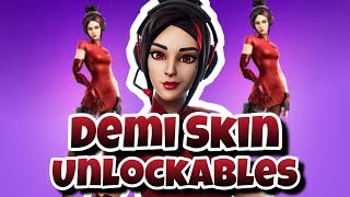 NEW DEMI SKIN UPGRADES SEASON 9 FORTNITE BATTLE ROYALE!!