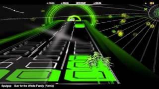 "Sputgop's ""Gun for the Whole Family"" Remix (Aesop Rock ft. El-P) in Audiosurf"
