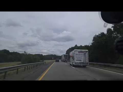 Driving on the I-80 from Clarion to Brookville,Pennsylvania