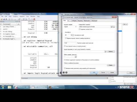 Multiple Imputation In Stata®: Setup, Imputation, Estimation--logistic Regression