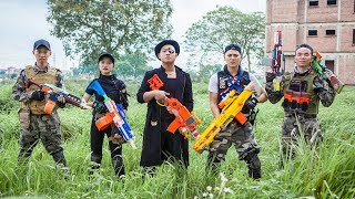 LTT Nerf War : Coulpe SEAL X Warriors Nerf Guns Fight Criminal Group Dr Lee Hunter Comeback