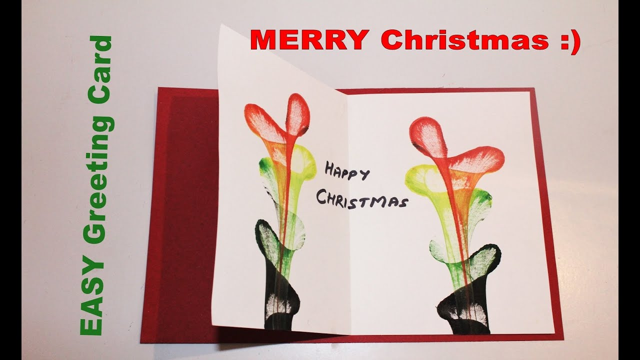 Diy how to make greeting card for christmas youtube diy how to make greeting card for christmas m4hsunfo