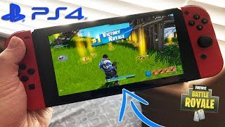 "USING MY ""PS4 FORTNITE ACCOUNT ON THE NINTENDO SWITCH""- NEW! CROSSPLAY IS OUT NOW - PS4 AND SWITCH!"