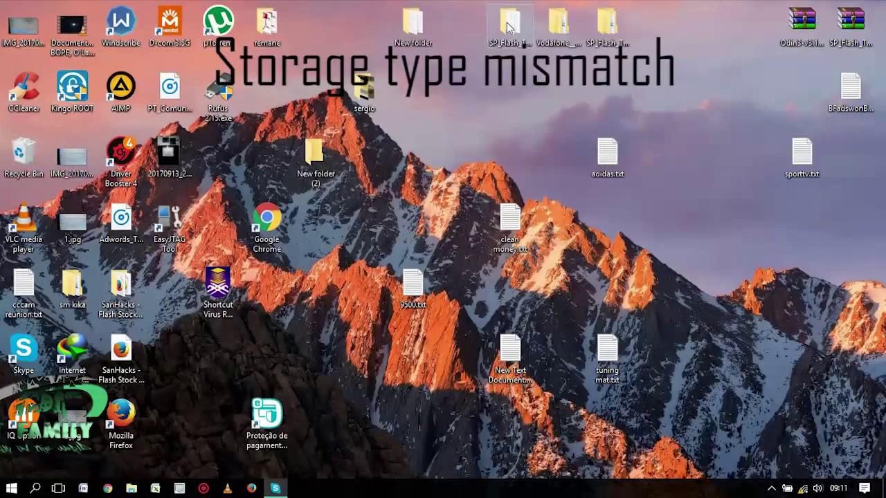 how to solve Storage type mismatch - BROM ERROR S BROM CMD