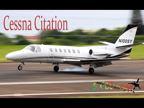 Cessna 560 Citation (N100SY) smooth arrival @ St. Kitts Robert L. Bradshaw Int'l Airport