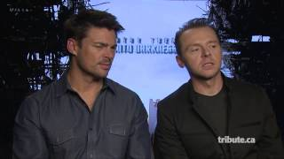 Karl Urban & Simon Pegg - Star Trek Into Darkness Interview HD