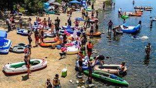 What American River rafting looked like on Memorial Day weekend amid coronavirus