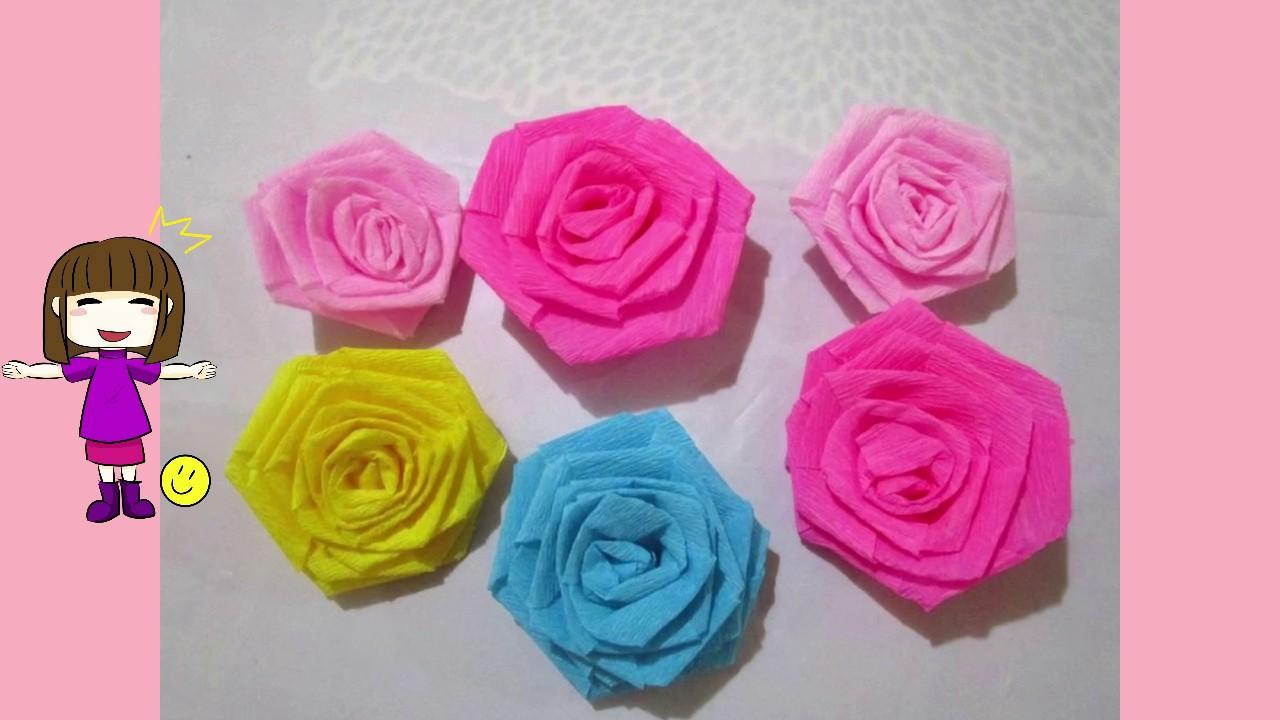 Como Hacer Rosas De Papel Crepe Quedate En Casa Y Aprende Con Las Pinatas De Emily 3 Youtub Rosas Con Papel Crepe Hacer Rosas De Papel Pinatas De Flores