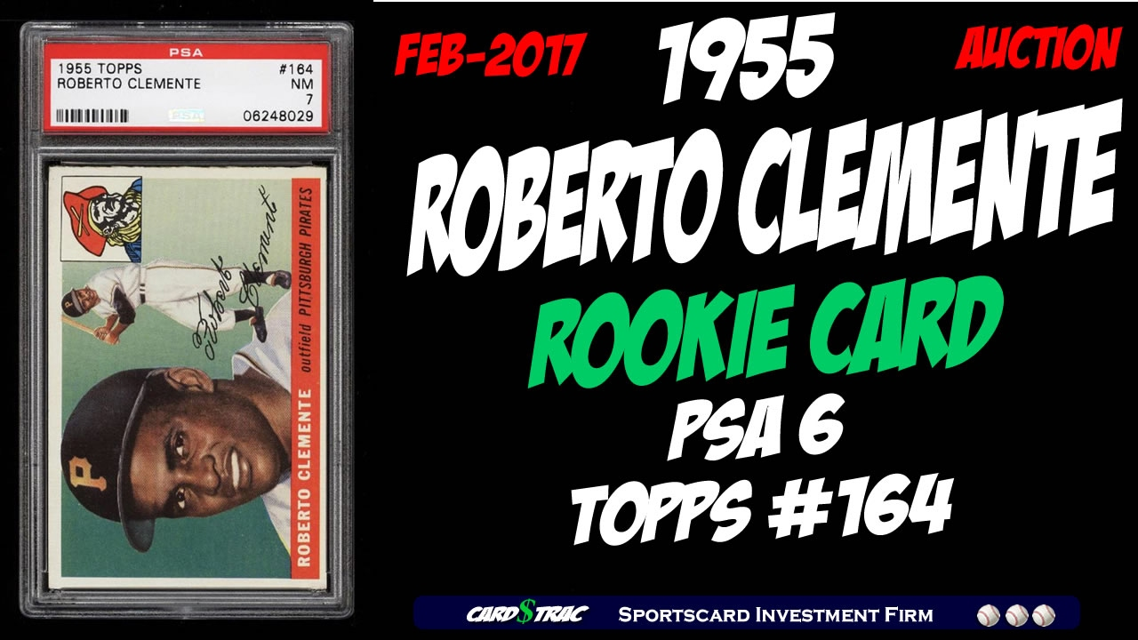 1955 Roberto Clemente Rookie Card 164 At Pwcc Auctions Psa 6