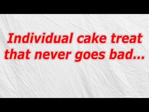 Individual cake treat that never goes bad (CodyCross Crossword Answer)