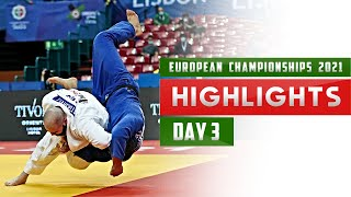 Highlights from Day 3 of European Judo Championships 2021 in Lisbon (Дзюдо2021/柔道2021)