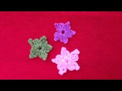 Hướng dẫn móc hoa len - Mẫu hoa tuyết ( Subtitles English )
