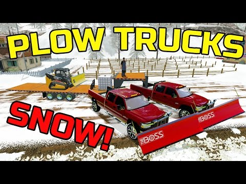 FARMING SIMULATOR 2017 | SNOW PLOWING WITH DURAMAX | MULTIPLAYER