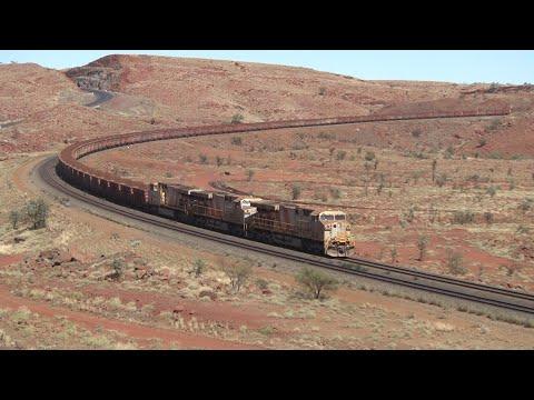 Massive Rio Tinto Iron Ore Trains Tackle The Chichester Range