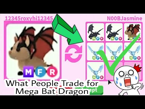 What People Trade For Limited Mega Neon Bat Dragon In Adopt Me