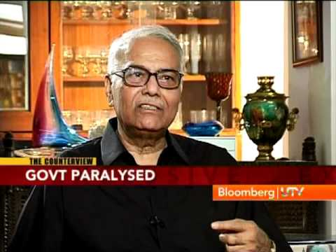 Bloomberg UTV Exclusive: Interview with Yashwant Sinha - Part 1