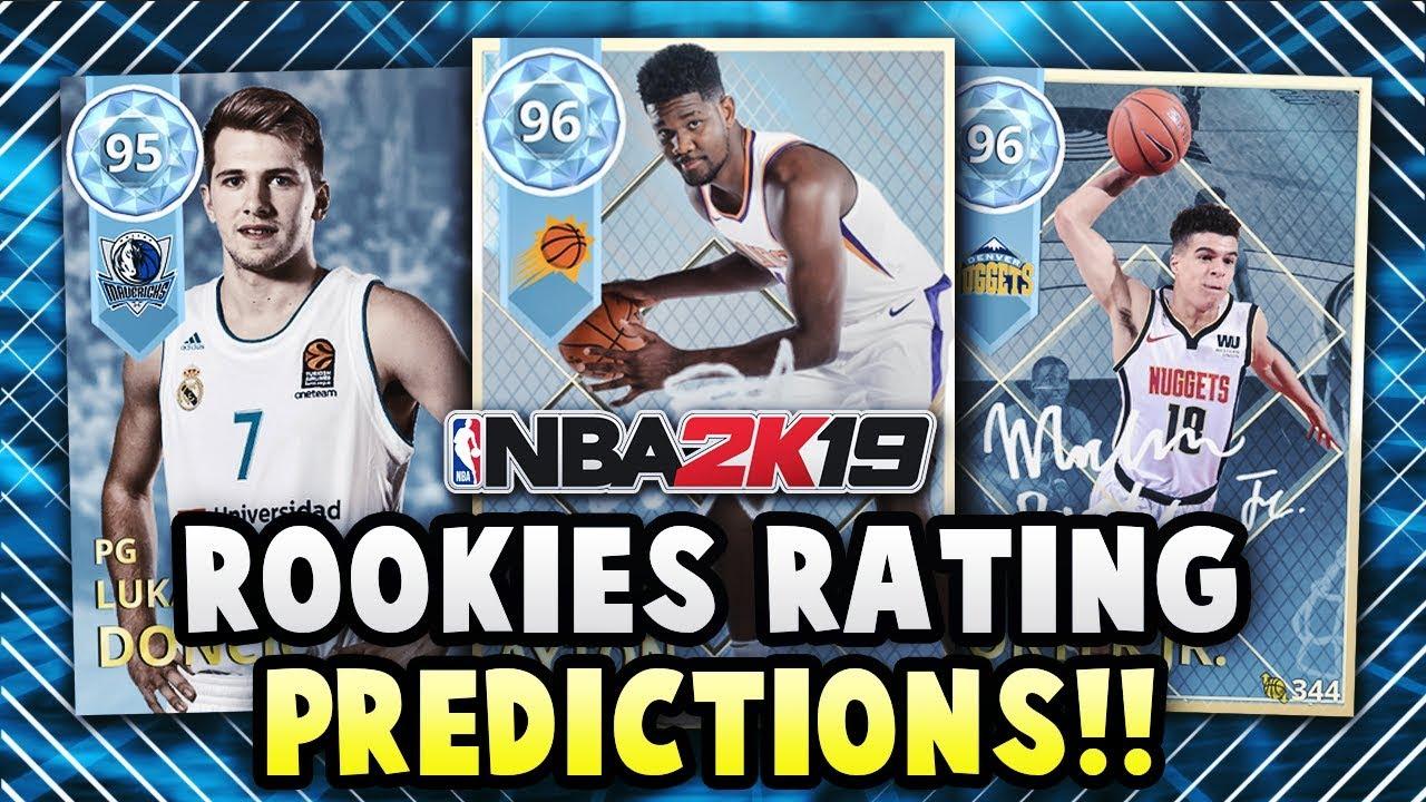 NBA 2K19 MyTEAM ROOKIE PLAYER RATINGS PREDICTIONS!! *TOP 10 PICKS* | NBA  2K19 MyTEAM