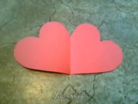 herz karte Basteln ♥ Herzkarte für Muttertag   YouTube