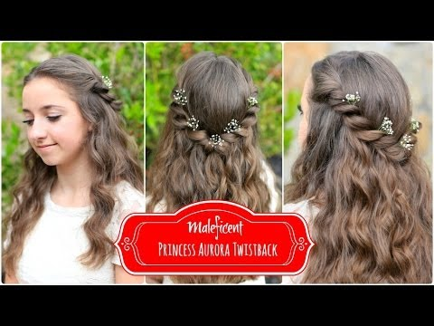 Princess Aurora Twistback Inspired By Disney S Maleficent Youtube
