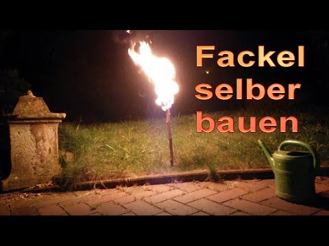 tolle fackel in 2 minuten selber bauen fackeln f r den garten selbst machen diy tutorial. Black Bedroom Furniture Sets. Home Design Ideas