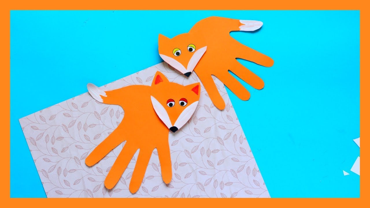 Handprint Fox Craft Fall Crafts For Kids