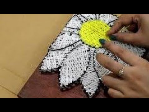 how-to-make-wall-hanging-with-strings-|-2-beautiful-string-art-on-wood-|