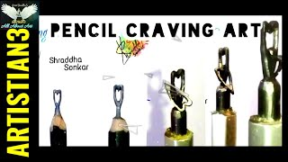 Pencil Craving Art - Two Heart In One Pencil Led by |Shraddha Sonkar|