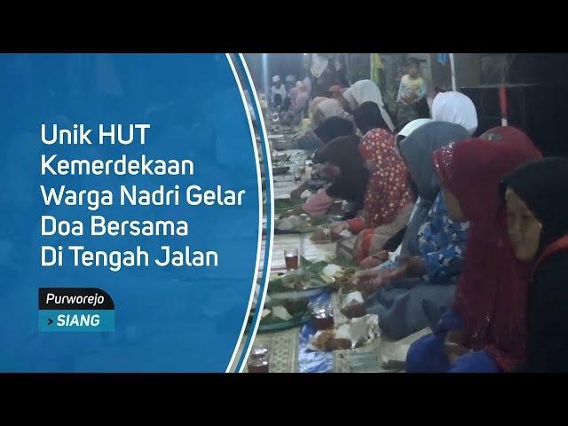Unik HUT Kemerdekaan Warga Nadri Gelar Doa Bersama di Tengah Jalan