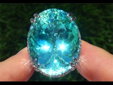 $10 Million Dollar World's Largest Natural Paraiba Tourmaline Ring For Sale