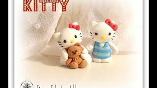 лепим  Hello Kitty из полимерной глины / пластилина / мастики