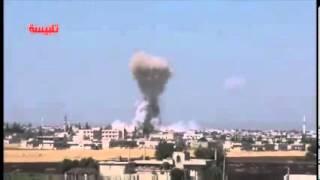 +18 Syrie,un avion MiG a été utilisé aujourd'hui pour bombarder la ville de Talbiseh