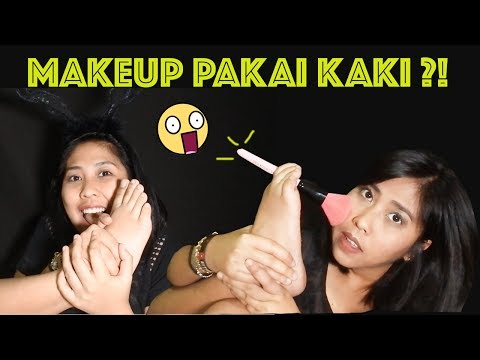 FULL FACE OF MAKEUP USING ONLY MY FEET ! (CHALLENGE) - VENNA VIOLITA