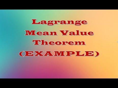 Lagrange Mean Value Theorem (LMVT)    EXAMPLE