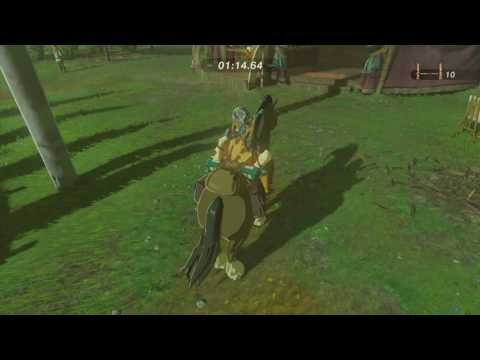 Zelda BotW - Highland Stable obstacle course under 1 minute