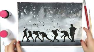 BTS (방탄소년단) LOVE YOURSELF 轉 Tear Fanart Fake Love Speed Painting