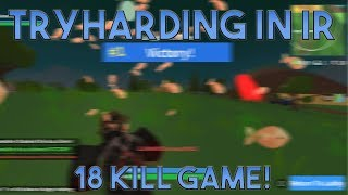 TRYHARDING IN ISLAND ROYALE 18 KILL GAME(ROBLOX FORTNITE)