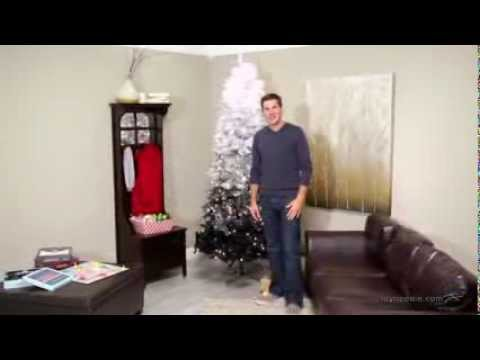 7 5 Ft Vintage Black Ombre Spruce Prelit Christmas Tree Product Review Video
