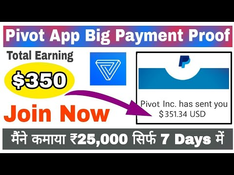 Pivot App Payment Proof | How to Withdraw Bitcoin From Pivot App Live