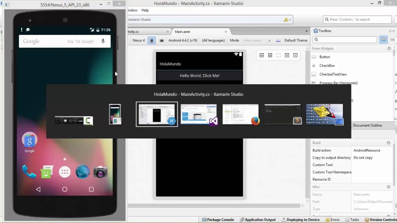 Hola mundo Xamarin. Desarrollo de aplicaciones Android | Programando ...