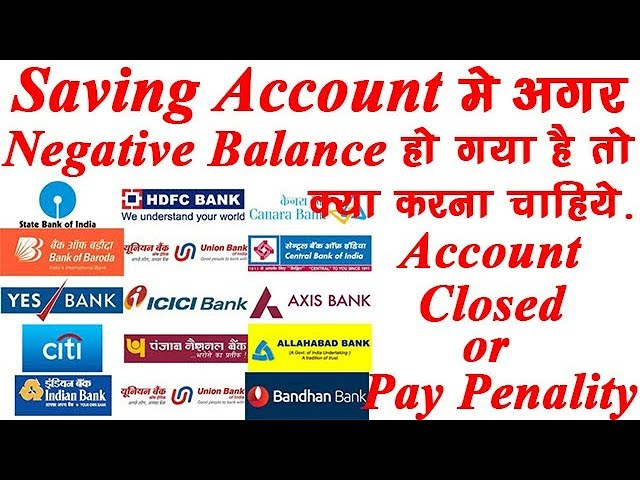 Negative Balance In Saving Account How To Close It Hdfc Icici Axis Sbi Bank Cibil Score Impact Youtube
