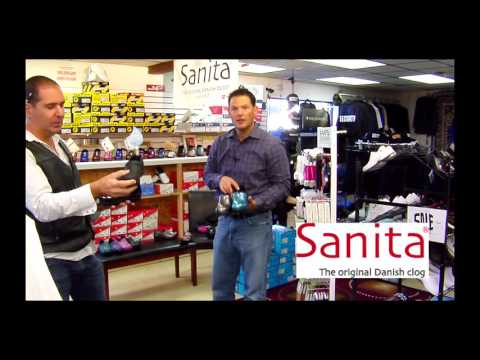 Dr. Uniforms With Tom, Our Rep., From Sanita Clogs