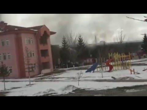 Çankırı'da Entegre Et Tesislerinde Korkutan Yangın
