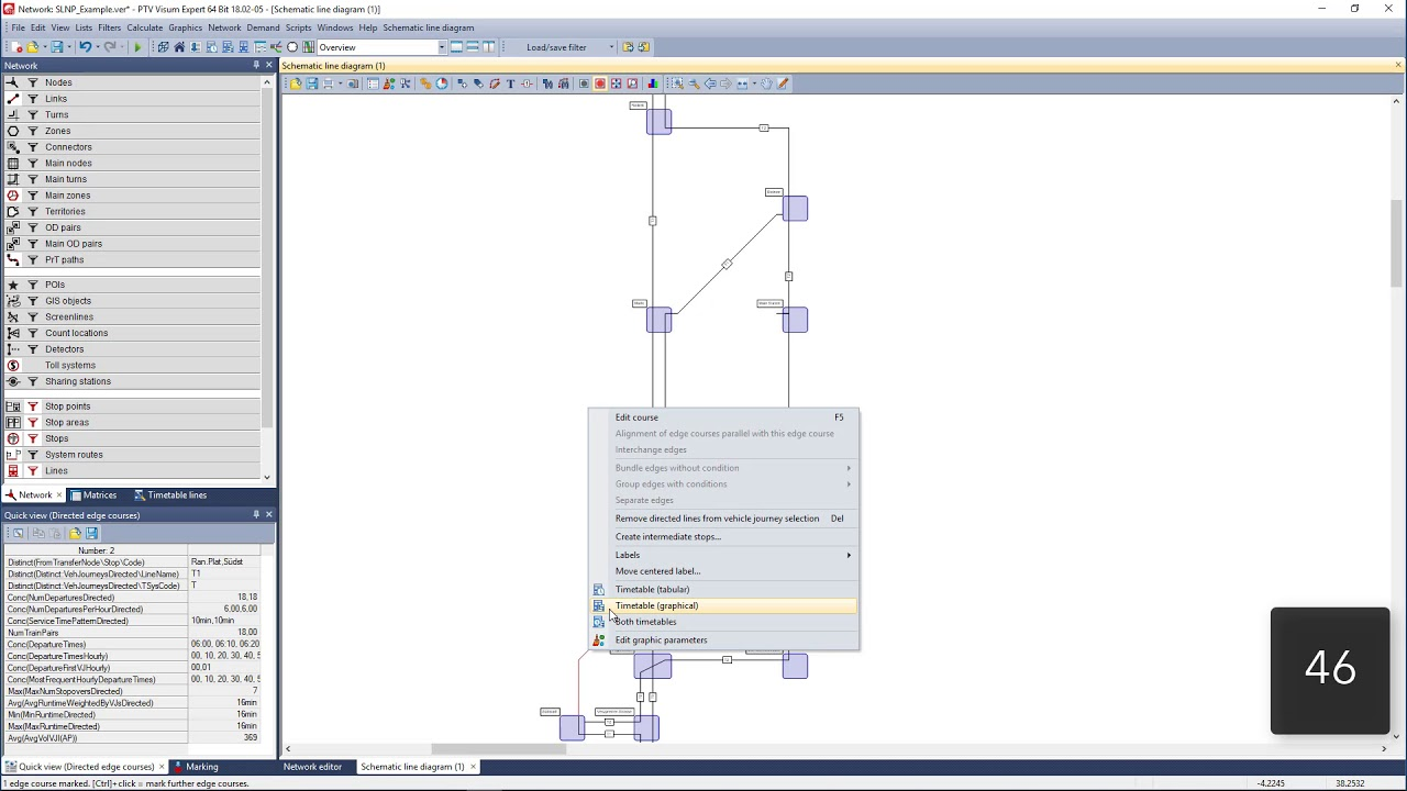 transit analysis how to set up a schematic line diagram [ 1280 x 720 Pixel ]